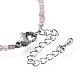 Natural Strawberry Quartz Bead Bracelets(BJEW-JB04555-05)-3