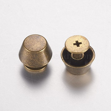 Zinc Alloy Jewelry Box Drawer Handles, Cabinet Knobs, Cone, Antique Bronze, 10.5x11mm(PALLOY-WH0005-01AB)