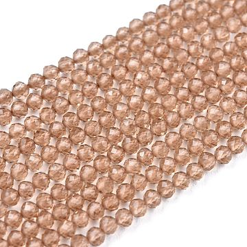 Glass Beads Strands, Imitation Quartz, Faceted, Round, Peru, 2mm, Hole: 0.5mm,  about 175pcs/strand, 14.9 inches(38cm)(G-K185-16N)