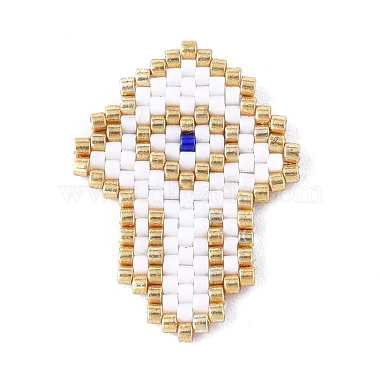 Handmade Seed Beads Pendants(SEED-I012-13A)-2
