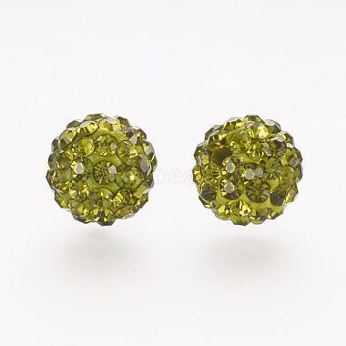 Perles de strass en argile polymère(RB-K050-10mm-C06)-2
