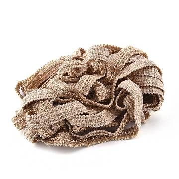 """Nylon Trim Ribbon, with Aluminium Curb Chains, for Cloth DIY Making Decorate, Gold, 1/2""""(12mm)(FIND-I011-01B)"""