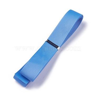 Grosgrain Ribbons, Polyester Ribbons, Blue Series, CornflowerBlue, 5/8inch(16mm); about 1yard/strand(0.9144m/strand)(SRIB-L055-16mm-A337)