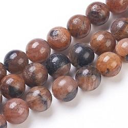 perles de grenatite naturelle, arrondir, 10 mm, trou: 1 mm; environ 41 perle / brin, 15.94 (40.5 m)(G-I203-B-10mm)
