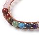 Natural Rose Quartz Cord Beaded Bracelets(BJEW-E351-02D)-4
