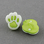 Yellow Green Acrylic Button(BUTT-Q022-A-05)
