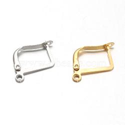 304 bails de beignes en acier inoxydable, Donuthalter, couleur mélangée, 20x2x13.5 mm, trou: 1 mm(STAS-F094-07)