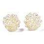 Champagne Yellow Round Glass Beads(X-GLAA-T024-01C-B04)
