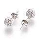 Sexy Valentines Day Gifts for Her Sterling Silver Austrian Crystal Rhinestone Ball Stud Earrings(Q286J011)-3