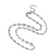 304 Stainless Steel Coffee Bean Chain Necklaces(X-NJEW-JN02917)-1
