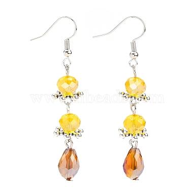 Goldenrod Alloy + Glass Earrings