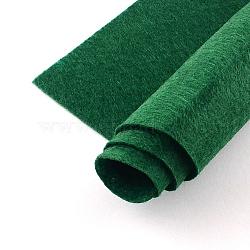 Feutre à l'aiguille de broderie de tissu non tissé pour l'artisanat de bricolage, rectangle, darkgreen, 298~300x198~200x2mm(DIY-Q008-04)