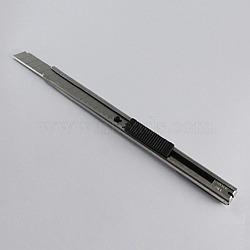 Jewelry Knife, Iron/Plastic, Platinum, 130x12x10mm(TOOL-S058-3)