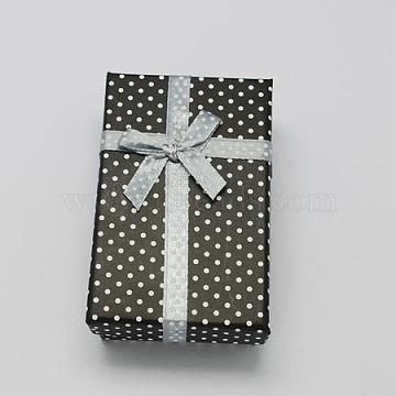 Black Rectangle Cardboard Jewelry Set Box