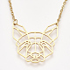 201 Stainless Steel Puppy Pendant Necklaces(NJEW-T009-JN046-2-40)-1