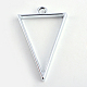 Rack Plating Alloy Triangle Open Back Bezel Pendants(X-PALLOY-S047-09D-FF)-2