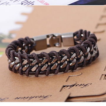 CoconutBrown Imitation Leather Bracelets