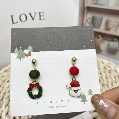 Рождественские тематические бумажные карточки для ювелирных украшений(CDIS-A003-02)-4