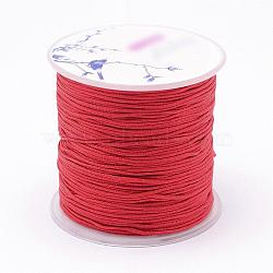 Nylon Threads, Red, 1mm, about 109.3yards/roll(100m/roll)(NWIR-N004-03A-1mm)