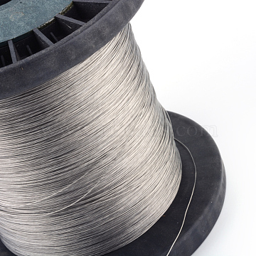 Tiger Tail Wire, Nylon-coated 201 steel, Silver, 0.8mm, about 1640.41 Feet(500m)/1000g(TWIR-S002-0.8mm-1)