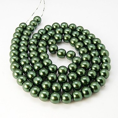 Glass Pearl Round Loose Beads For Jewelry Necklace Craft Making(X-HY-6D-B59)-2