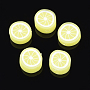 10mm Yellow Fruit Polymer Clay Beads(X-CLAY-Q170-13)