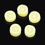 10mm Jaune Fruit Fimo Perles(X-CLAY-Q170-13)