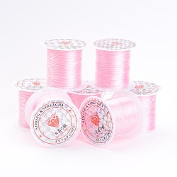 PearlPink Stretch Elastic Beading Wire String, 1mm, 10m/roll(X-EW-S002-20)