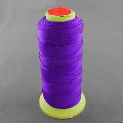 Fil à coudre de nylon, blueviolet, 0.8mm, environ 300 m / bibone (NWIR-Q005-16)