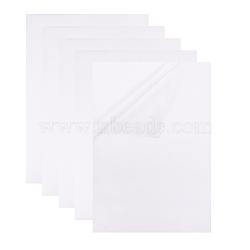 papier d'impression adhésif de film de PVC transparent, blanc, 29.7x21 cm(AJEW-BC0005-35)