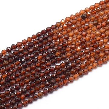 2mm Round Garnet Beads