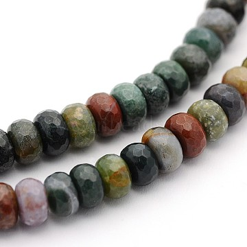 8mm Rondelle Indian Agate Beads