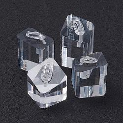 Affichage d'anneau, acrylique, colonne, clair, 4.9x2.9 cm, 4.2x3.05 cm, 4x3cm et 3.4x3cm, 4 pièces / kit(RDIS-G004-05)