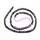 Natural Garnet Beads Strands(G-D0003-B09)-2
