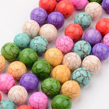 12mm Colorful Round Synthetic Turquoise Beads