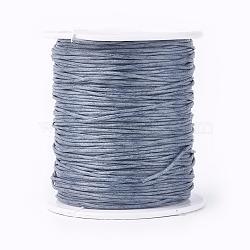 воском хлопчатобумажная нить шнуры, серый, 1 мм; около 100 ярдов / рулон (300 футов / рулон)