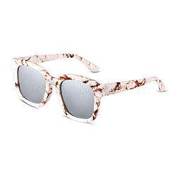 мода стиль звезды лета женщин солнцезащитные очки, пластиковые рамы и объектив для ПК, белый ртуть, 4.4x14.5 cm(SG-BB14395-2)