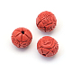 Round/Flower Bud Cinnabar Beads(CARL-Q003-41B)-2