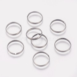 316 Surgical Stainless Steel Finger Ring Settings, Adjustable, Stainless Steel Color, Size 7, 17mm; 3mm(STAS-I090-02P)