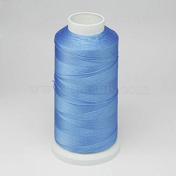 Nylon Thread, For Tassel Making, Sky Blue, 0.3mm, about 1093.61 yards(1000m)/roll(NWIR-D047-25)
