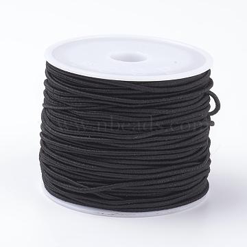 Elastic Cords, Black, 1.2mm, about 16.4~17.49 yards(15~16m)/roll(X-EC-G008-1.2mm-02)