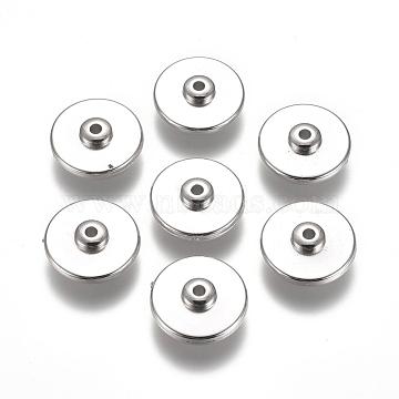 CCB Plastic Beads, Flat Round, Platinum, 16x6mm, Hole: 2mm(CCB-L011-063P)