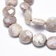Electroplate Natural Sunstone Beads Strands(G-K256-20B)-3