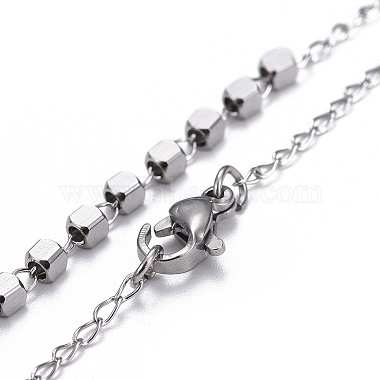 304 Stainless Steel Rosary Bead Necklaces for Easter(NJEW-L159-06P)-3