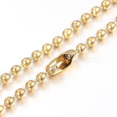 304 Stainless Steel Ball Chain Necklaces Making(X-MAK-I008-01G-A02)-1