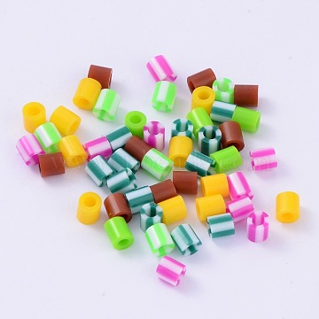 Mixed Style Tube PE DIY Fuse Beads Refills, Mixed Color, 5x5mm, Hole: 3mm; about 1000pcs/60g(DIY-X0251-04)
