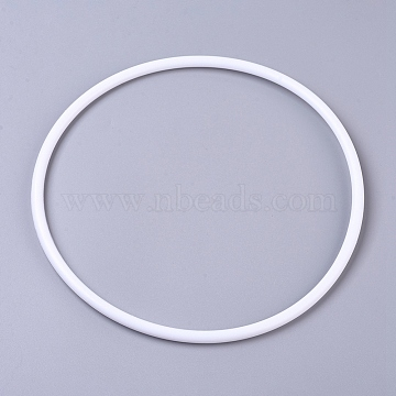 Hoops Macrame Ring, for Crafts and Woven Net/Web with Feather Supplies, White, 250x7.2mm, Inner diameter: about 235.6mm(DIY-WH0157-47G)