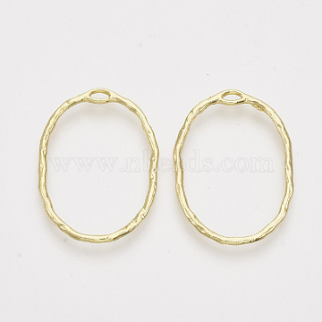 Alloy Open Back Bezel Pendants, For DIY UV Resin, Epoxy Resin, Pressed Flower Jewelry, Oval, Light Gold, 30x21.5x1.5mm, Hole: 3x1mm(X-PALLOY-S121-84)