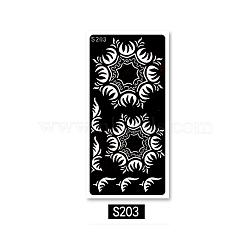 tatouage d'art corporel, autocollants en papier faux tatouages temporaires creux, noir, 185x95 mm(MRMJ-K003-D09)