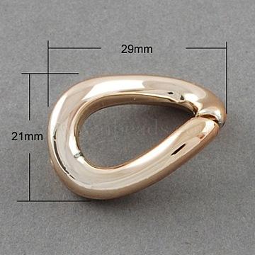 Golden UV Plating Acrylic Twist Linking Rings, 21x29x5mm(X-PACR-Q062-2)